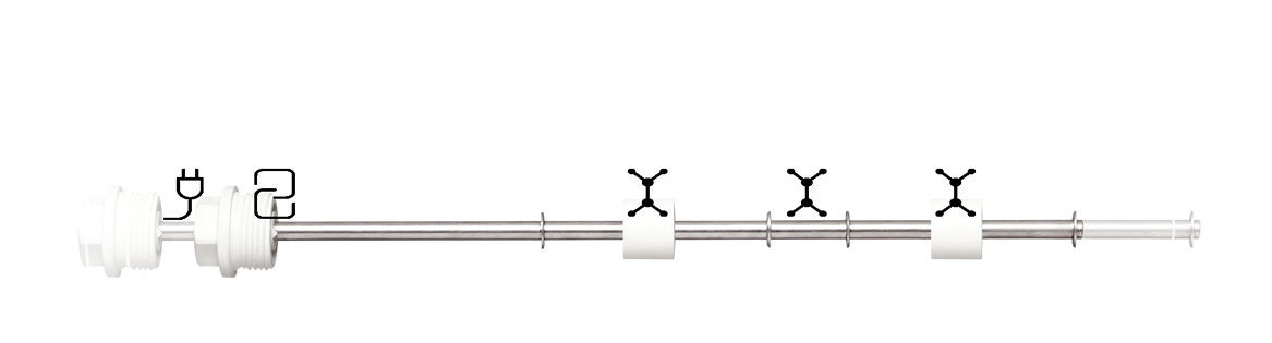 Choose your length, mechanical connection, materials, electrical connection