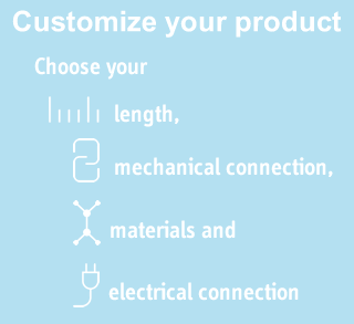 Customize your sensor choose length connection and materials